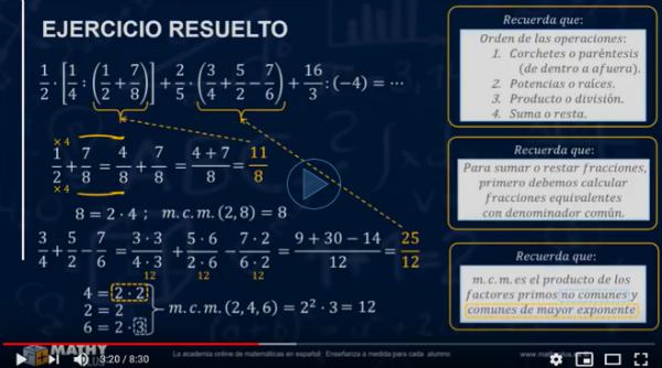 vamos a resolver operaciones combinadas con fracciones