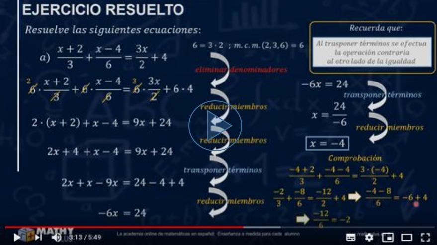 Resolver ecuaciones con fracciones fácilmente