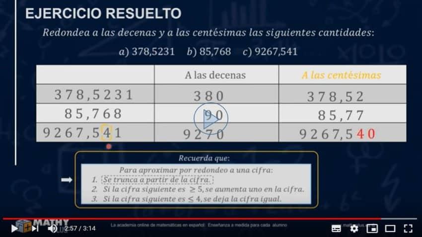 Como aproximar o redondear un número decimal fácilmente.