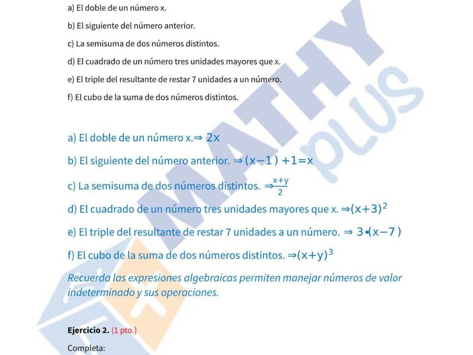Examen resuelto algebra