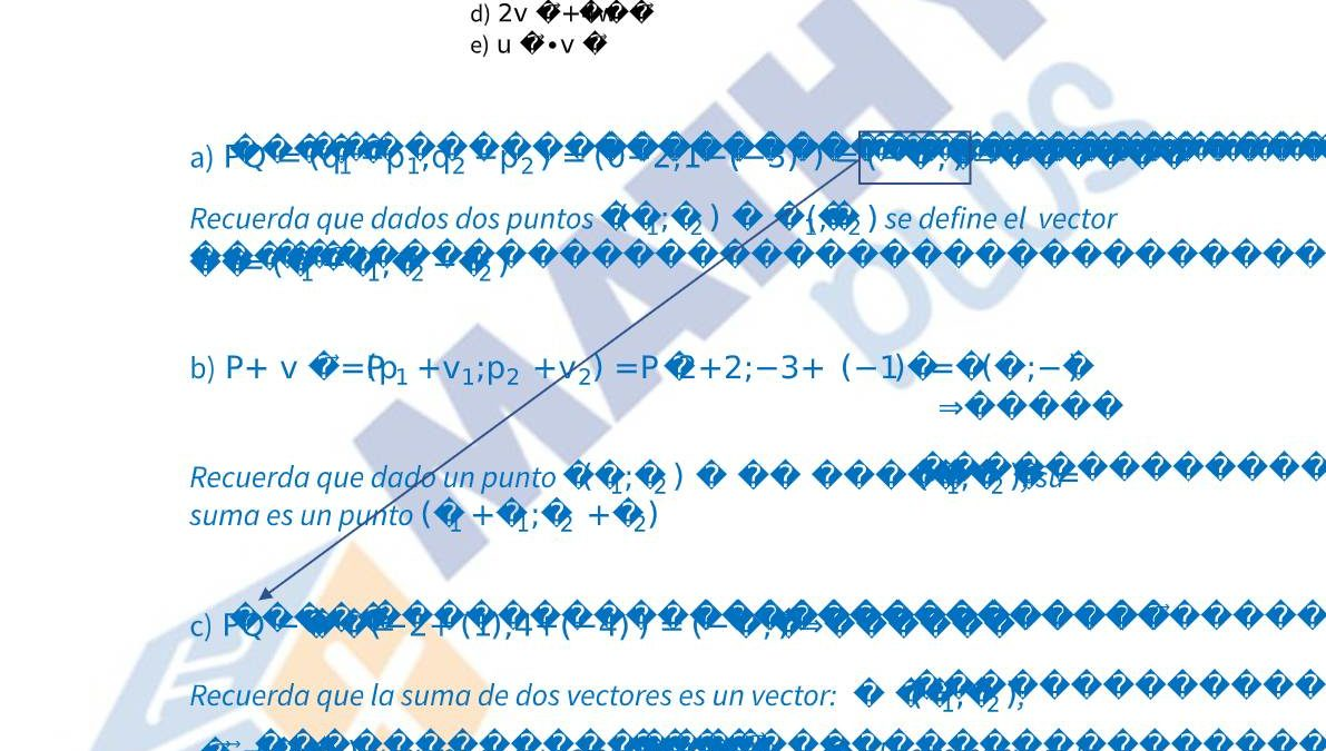 Examen resuelto geometria bachillerato