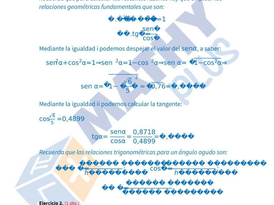 Examen resuelto trigonometria